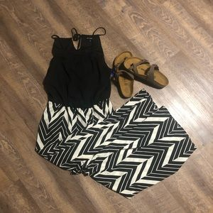 NWOT Black & white jumpsuit